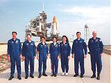Posádka STS-96 při TCDT (28.04.1999)
