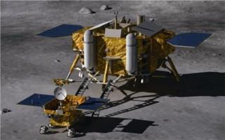 Kresba sondy Change 3 na Měsíci