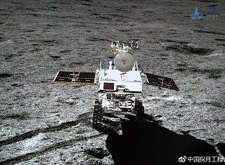 Vozítko Yutu2 ze sondy Change 4 na Měsíci (leden 2019)