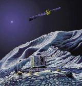 Kresba výsadku na kometě
