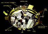 Dolní strana modulu Huygens
