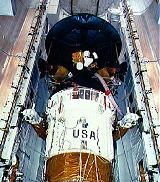 Galileo v nákladovém prostoru raketoplánu