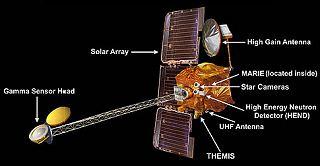 Schéma sondy 2001 Mars Odyssey