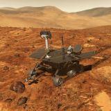 Kresba vozítka MER na Marsu