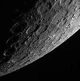Snímek Merkuru z oběžné dráhy (02.10.2013)