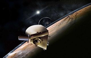 Kresba sondy New Horizons u Pluta