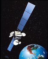 Kresba geostacionární družice DirecTV-4S