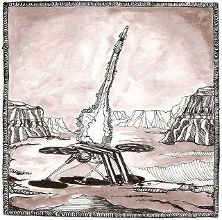 MiniMAV startuje z Marsu (ilustrace: Klára Pavelková)